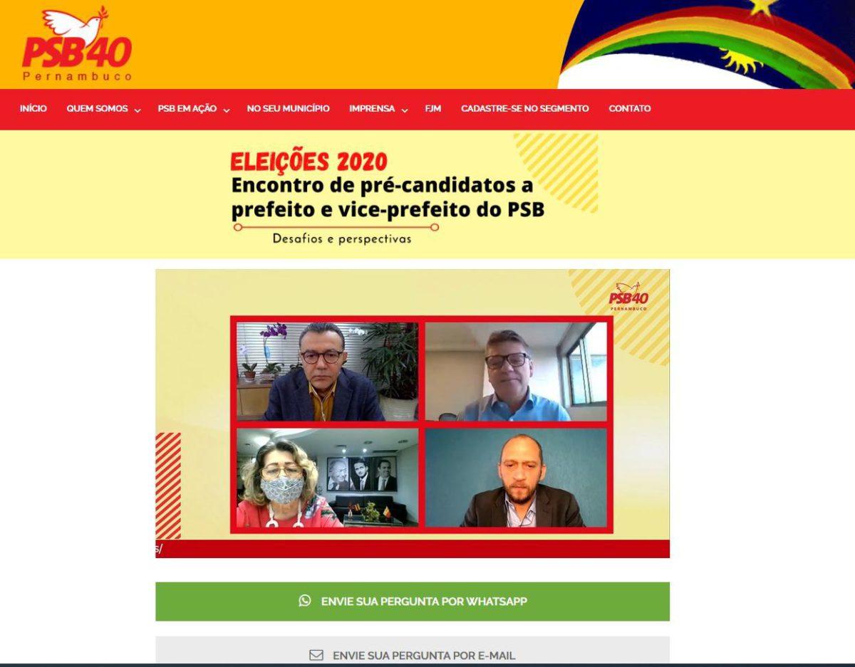 PSB debate políticas sociais, cenário econômico e político e eleições nas mídias digitais