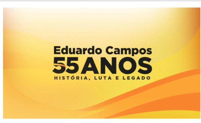PSB de Pernambuco realiza homenagem pelos 55 anos de vida de Eduardo Campos